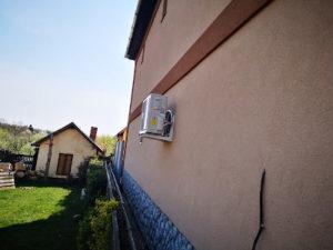 Miskolci családi ház klíma szerelés.Hűtésre Fűtésre alkalmas gree klíma