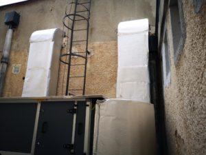 Ipari konyha légkezelő és légcsatorna hálózata