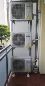 Kazincbarcika panel lakás klíma szerelés kültéri egység az erkélyen