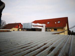 Miskolci sprint nyomda légkezelő a tetőn