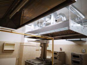 Szerencs ipari konyha zsíros elszívás légtechnika